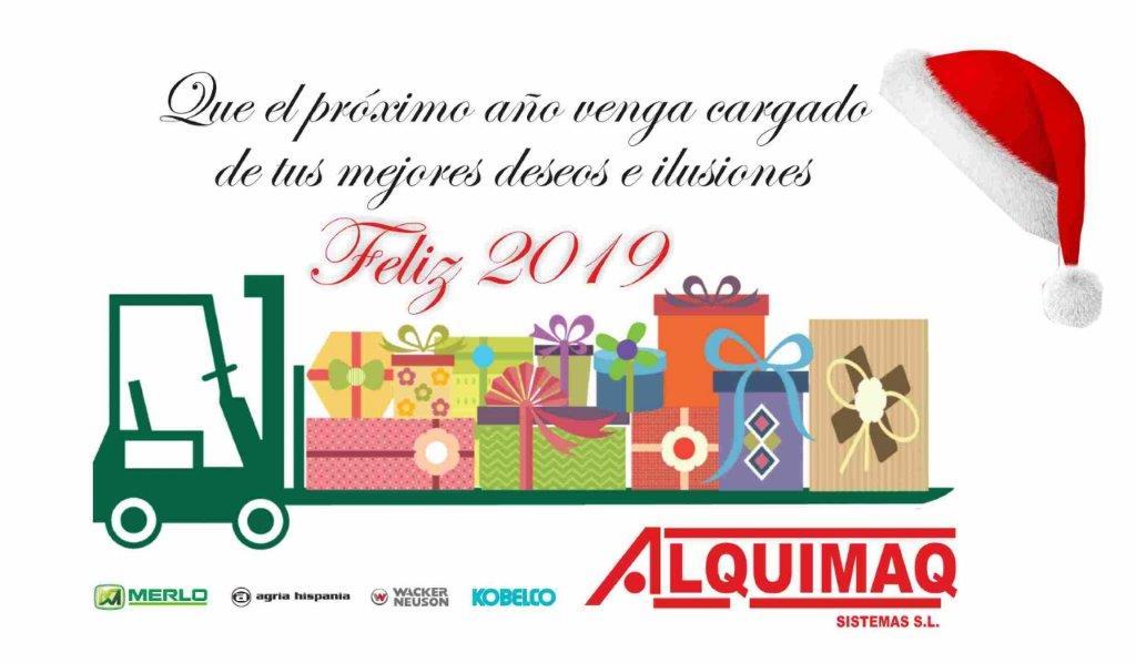 Felicitación Navidad Empresa Alquiler de maquinaria Alquimaq
