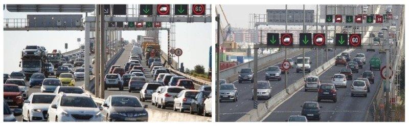 Nuevo Carril Puente V Centenario trafico
