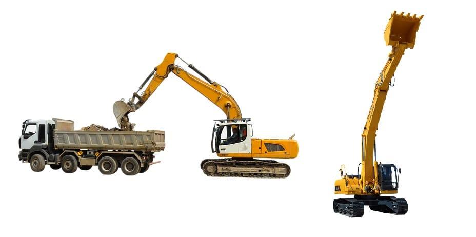 Alquiler de excavadoras.