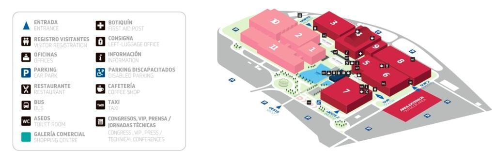plano Feria de construcción Zaragoza